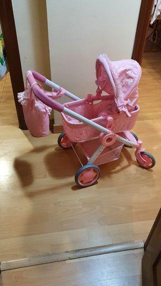 coche capota rosa de juguete