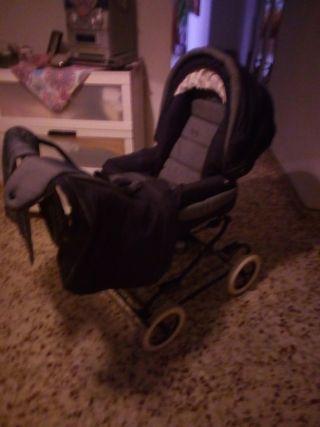 cochecito bebe dos en uno silla y capazo