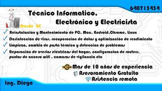 Informático, Electrónico, Electricista