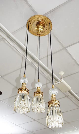 Antigua lámpara colgante Vintage