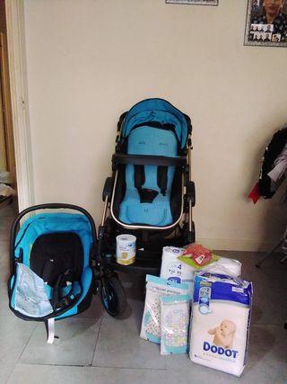 carro de bebe 3 en 1