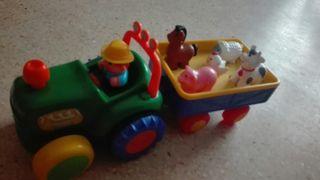 Tractor con sonido y animales
