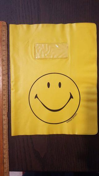 Funda para libreta / cuaderno - con smiley