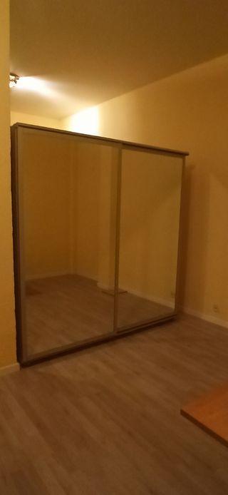 Armario doble espejo, puertas correderas