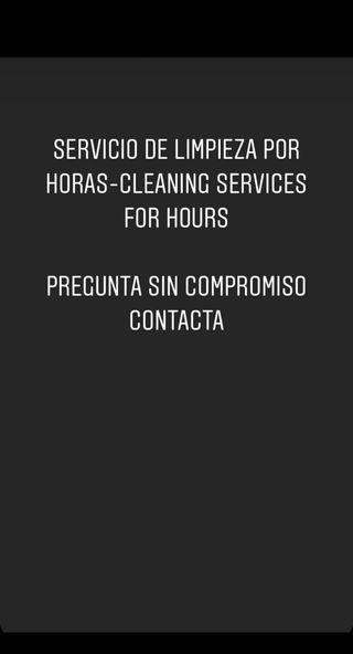 Servicio de limpieza por horas,cleaning services
