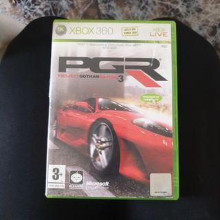 Juego de coches PGR para Xbox 360