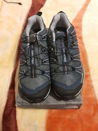 zapatillas Salomón sin utilizar compradas el