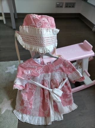 Vestido niña y capota