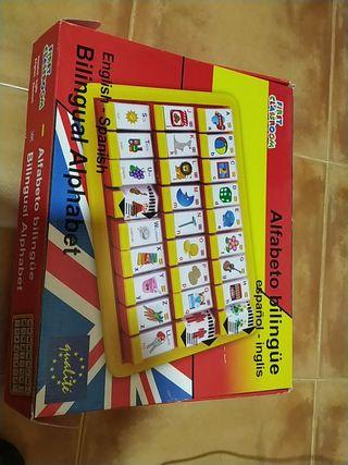 Alfabeto bilingüe español inglés