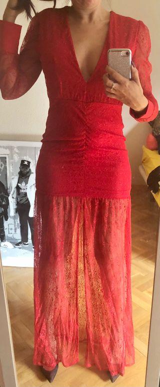 Vestido largo de fiesta rojo