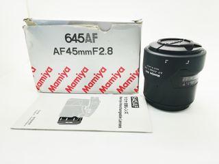 OBJETIVO MAMIYA 45MM 2.8 PARA 645 AF AFD Phase One