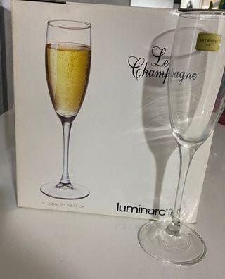 Copas Champagne Luminarc Nuevas