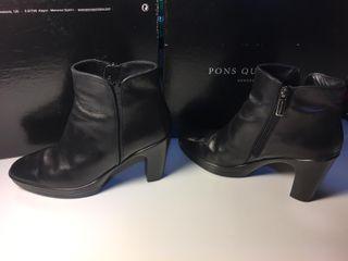 Botines negros mujer PONS QUINTANA (talla 38)