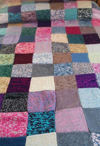 Colcha patchwork lana