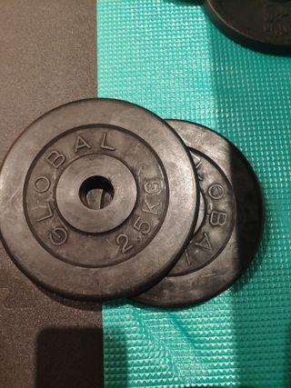 discos 2.5 kg-28 mm