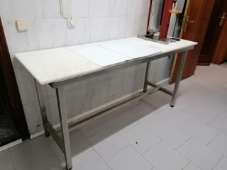Eurotapisa Mesa de corte despiece de acero inox