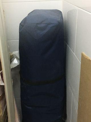 Carpa azul 3*3m con ventanas plástico