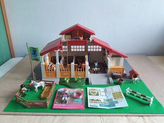 playmobil granja caballos