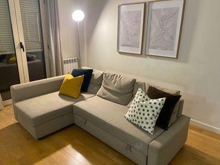 Sofá cama Ikea beige