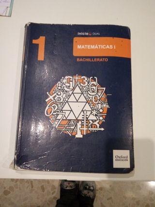 LIBRO MATEMÁTICAS 1 BACHILLERATO. OXFORD