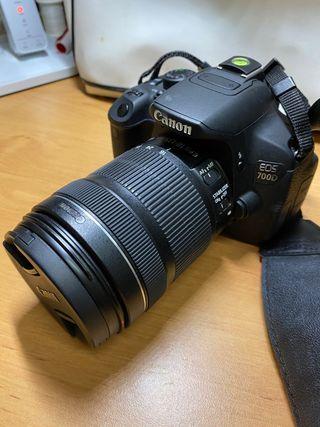 Camara Canon 700D + objetivo
