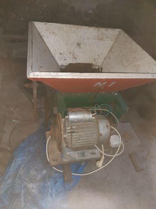 picadora trituradora de manzana.