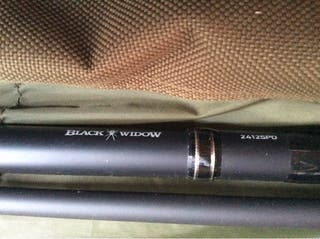 Carp Fishing rod black widow by Diawa (no reel)