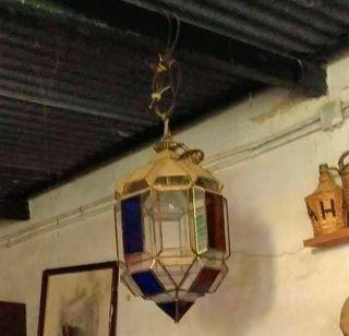 dos lamparas grandes antiguas