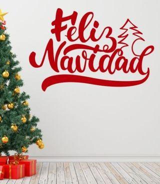 Vinilo Pegatina Feliz Navidad
