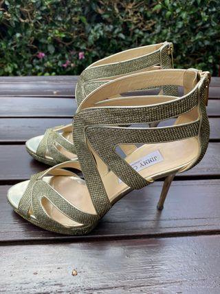 Sandalias de oro de Jimmy Choo