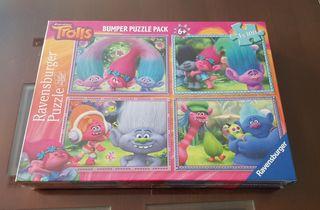 Puzzle pack de 4 nuevo con embalaje.