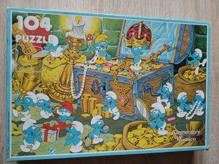 Puzzle Los Pitufos antiguo 104 piezas