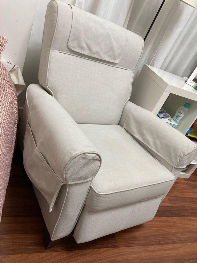 2 sillones relax reclinables Ikea Muren beige