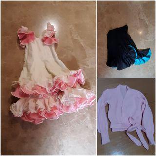 Vestido, Falda de flamenca y Rebeca