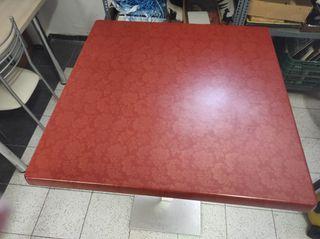 mesa alta bar patas aluminio