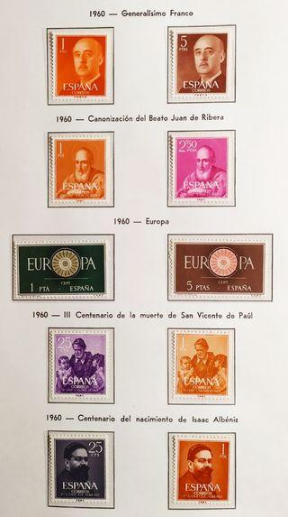 Sello. España. Año completo Edifil 1960.MNH