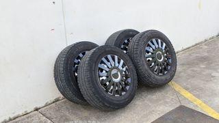 4 llantas de acero VW 5x120 con tapacubos
