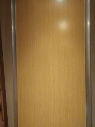 2 puertas correderas para armario de 1'30