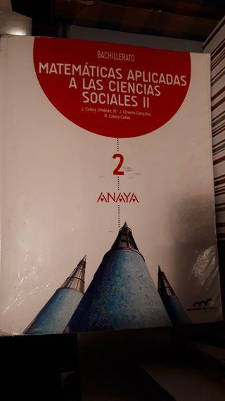 libro matemáticas 2 bachillerato Anaya