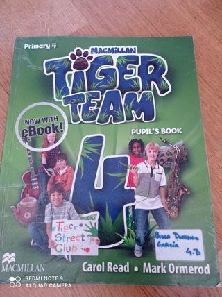 Libro escolar de cuarto de primaria (inglés)