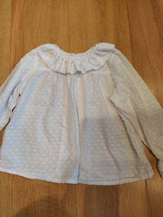blusa plumeti blanca mía y lía talla 3