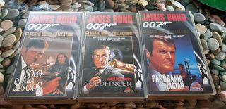 3 peliculas James Bond Vhs