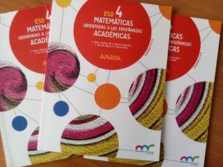 Matemáticas Académicas 4 ESO ANAYA