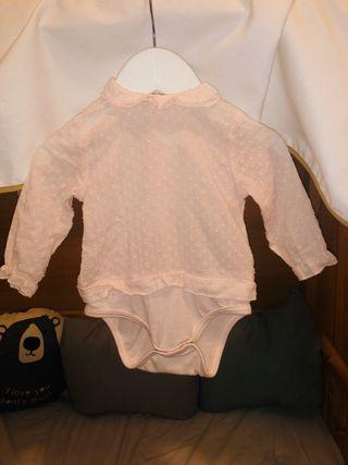 Blusa body plumeti rosa zara