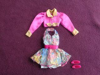 Conjunto vintage Barbie original etiquetado