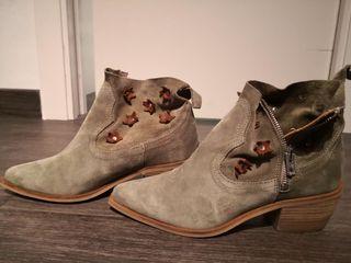 botines de piel