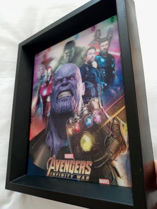 Cuadro 3d de Marvel - Infinity war