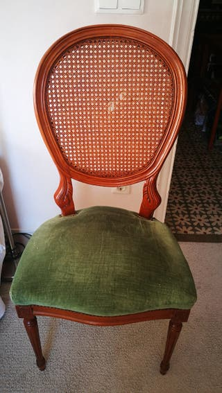 Silla antigua. Vintage. Silla de madera. Estructur