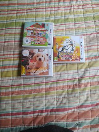 3 Juegos Nintendo 3 ds +Cargador original