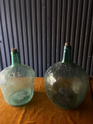 Botijos verdes cristal jarrones